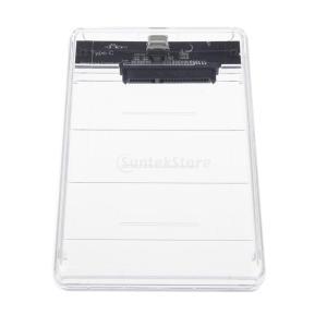 2.5インチSATA → USBタイプC 3.0 外付け HDD ハード ドライブ エンクロージャ ...