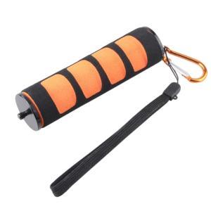 Perfk デジタルビデオスポーツカメラに対応 1/4インチ スクリュー スポンジ ハンドル ホルダー グリップ 全2色 軽量 便利性  - オレンジ