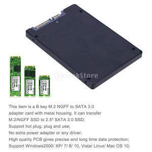 Dolity M.2 NGFF → SATA III アルミニウム 2.5インチ SSD エンクロージャー  2242 2260 2280mm SSDに対応  交換性 便利性 |stk-shop