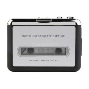 IPOTCH USB カセット→ MP3  変換 ポータブル   テープ レコーダー プレーヤー キャプチャ  PCに対応 多機能 実用的