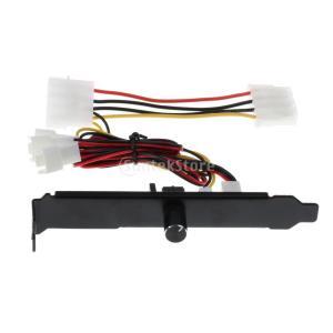 Fenteer ファン速度コントローラ 3チャンネル 3ピン  PC クーラー冷却ファン スピードコントローラー PCIブラケット 12V モレックス|stk-shop