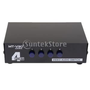 4ポート RCA ビデオ オーディオ AV スイッチ セレクタ スプリッタボックス 4入力1出力|stk-shop