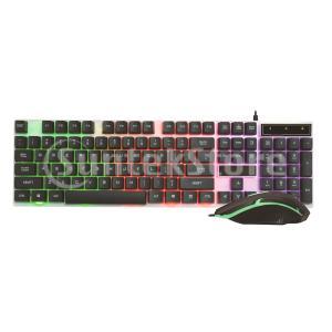 デスクトップ有線USBメカニカルキーボード&マウスバンドルセットRGBバックライト|stk-shop