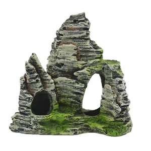 Dovewill  樹脂製 人工 山 石 岩 水族館 タンク 水槽 アクアリウム内装 オーナメント stk-shop