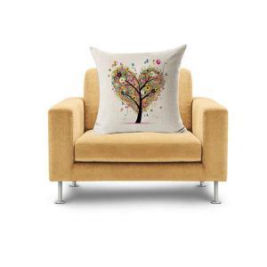 Perfeclan リネン スクエア クッションカバー 枕カバー ピローケース 部屋 ソファー 装飾 クッションケース 全9種類選ぶ  - 様式1