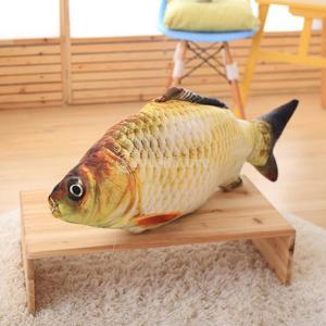Dovewill 面白い 犬 猫のおもちゃ 魚の形 シミュレーション鯉 綿 ぬいぐるみ 遊び 抱き枕 クッション stk-shop