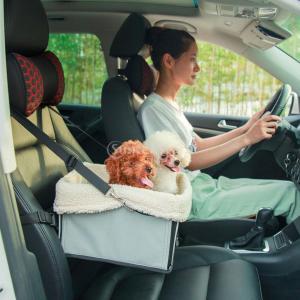 折り畳み式 ペットキャット 犬ブースターシート 収納ボックス 便利 ペット用 おでかけ用 安全リーシ...