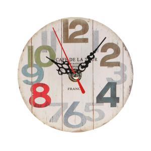 SunniMix 多種類選べる 高品質 木製 壁掛け 時計 ラウンド アンティークレトロ 素晴らしいギフト  - 5#|stk-shop