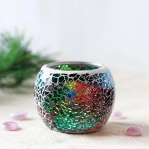 高品質 モザイクガラス キャンドルホルダー 多肉植物 植木鉢 ウェディング パーティー 素晴らしい 装飾 多種類選べる - A|stk-shop