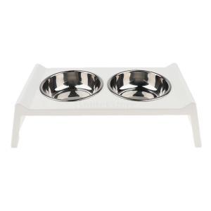 犬 猫 餌入れ 食器 アクリルスタンド 食品 水 皿 2個ボウル ステンレス 耐久性