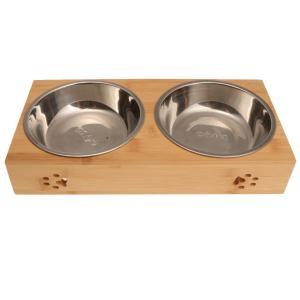 全2サイズ ペット  犬 フィーダー 猫 水 ボウル 摂食ボウル 皿 容器 高品質 ペット 食器 餌入れ  - L