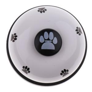 ペット 子犬 犬 猫 訓練 鐘 食事 鐘 トイレ 訓練装置 全5色選べる  - 白