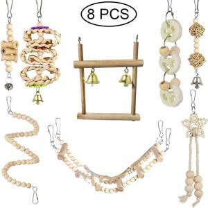 オウムのおもちゃは鳥のスイングスイングリングのはしごのはしごのニブルの登山のおもちゃを供給します. stk-shop