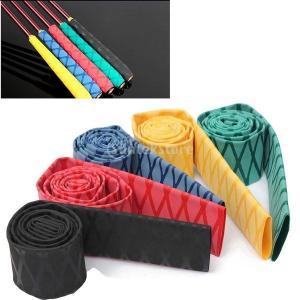 シリコーンゴム製 滑り止め 質感 熱収縮チューブ  釣り ロッド グリップ パドルハンドル対応  -...