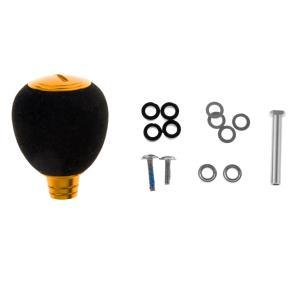 ステンレス製  釣り リール ハンドル ボール ノブ スピニングリール交換用 耐久性  全3色 - ゴールド stk-shop