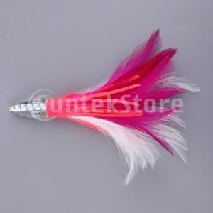 釣りルアーイカタコスカートルアーソフトベイトクランクベイトピンクホワイト