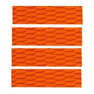 4枚セット EVA サーフィン ボディ トラクション グリップ デッキパッド 全2色 - オレンジ|stk-shop