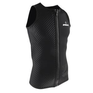 メンズ ウェットスーツ ベスト 3mmネオプレン トップ ノースリーブ フロントジッパー シャツ スキューバ ダイビング サーフィン スノー|stk-shop