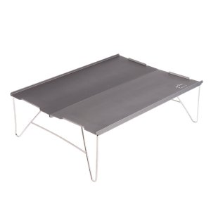 超軽量 折りたたみ キャンプ テーブル 持ち運びに便利 組立てが簡単 全4色  - グレー stk-shop