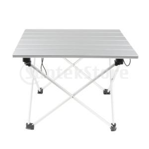 説明: 折り畳み可能なキャンプ用テーブルは、高品質のアルミニウム合金、耐久性のある、超軽量で作られて...
