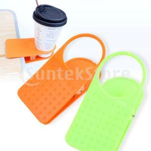 説明: プラスチック製、耐久性、軽量、持ち運び可能デスク/テーブル側の飲み物をクリップするための多目...