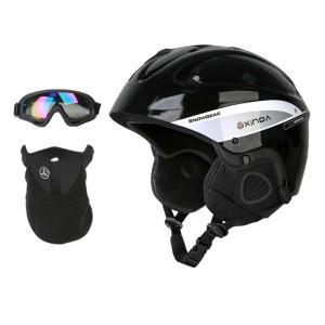 説明: 頭部保護用のABSシェルと耐衝撃ライナー 1個の安全ヘルメット、1個のゴーグル、および1個の...