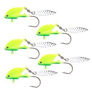 説明: ステンレス鋼のとげのあるフック、超鋭いさび止め。 生き生きとした魚の皮と3Dの目、魚を引き付...