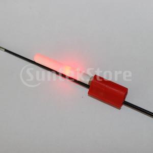 釣竿発光スティックライトLED取り外し可能なフロートナイトタックルレッド