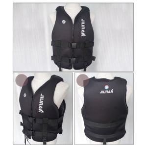 フィッシングライフジャケットベストネオプレンブイエイズフローティングデバイスブラックXS|stk-shop
