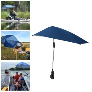 UPF50 +調節可能なクランプオン傘サンシェード保護]チェアゴルフハイキング用パラソルシェルターキャノピー|stk-shop
