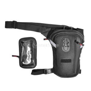 説明: レッグバッグタッチスクリーン携帯電話バッグ製品容量コンパートメントは、財布/電話/カメラ/キ...