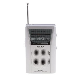 Perfk 多機能 AM FMラジオ ミニ スピーカー 伸縮式 3.5mmジャック 釣り/登山/フィッシング用 ポータブル 互換性|stk-shop