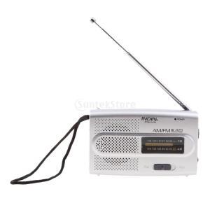 Fenteer ポータブル ポケット AM FMラジオ スピーカー 伸縮式 アンテナ 3.5mmジャック FM:88-108MHz AM:530-1600 KHz|stk-shop