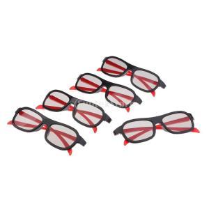 2ピース 3Dメガネ ABS樹脂製 人間工学 耐久性