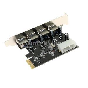 4ポートPCI-E  -  USB 3.0 HUB PCI Express拡張カードアダプタ5 Gb...