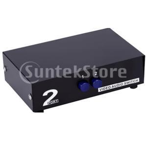 ビデオ オーディオ AVスイッチ セレクタ スプリッタ ボックス 2ポート|stk-shop