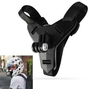 ブラック スポーツカメラあごマウント goproヘルメットストラップサイドマウントキット|stk-shop