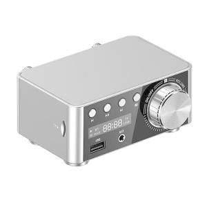 パワフルなミニ100WBluetooth5.0パワーアンプHi-Fi2.0チャンネルシルバー|stk-shop