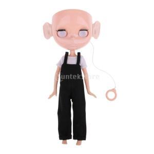 20関節男性ヌードボディ 12インチブライスドール人形のため サスペンダーパンツ