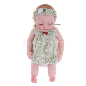 説明: この27cm現実の赤ちゃんの女の子の人形は、安全で環境に優しいビニル/シリコーンで作られてい...