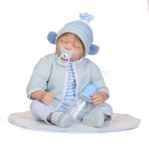 説明:この55cmの実生活の赤ちゃん人形は、安全で環境に優しいビニル/シリコーンで作られていますフィ...
