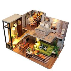 Perfeclan 木製 1/24スケール ドールハウス家具 防塵カバー無し ミニチュア 家具 部屋...