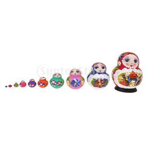 2カラー マトリョーシカ人形 ロシア 巣人形 バブシュカ マトリョーシカ人形 おもちゃ - 多色|stk-shop