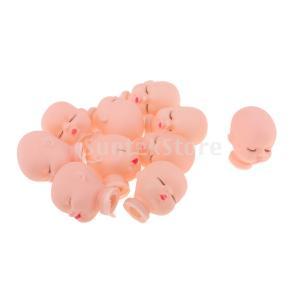 説明:人形DIYの交換のための10個のかわいい眠っている赤ちゃんの人形頭のスクルプ金型 Liccにつ...