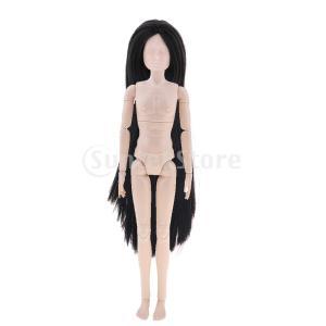 FLAMEER 柔軟 関節可動 12インチ男性人形ヌードボディ 黒いヘアヘッド コレクションドール