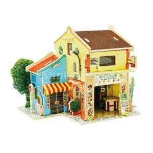 FLAMEER 3Dパズル DIYドールハウス 1:24スケール 組み立て おもちゃ ミニチュア 家...