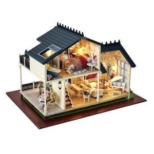 家具モデルの子供のギフトが付いている1/24 DIYのミニチュアプロヴァンスのドールハウスのキット