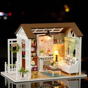 家具モデルハッピータイムキッズギフト付き1/24 DIYミニチュアドールハウスキット