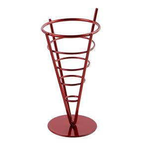 フレンチフライドコーンホルダー French Fryスタンド フライドポテト 鉄 全2色選べる - 赤|stk-shop