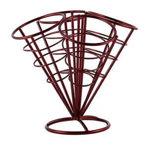 全2色選べる French Fryスタンド フライドポテトホルダー コーンバスケットホルダー 高品質 - 赤|stk-shop